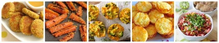 Healthy Kid's Snack Recipe Ideas collage 5