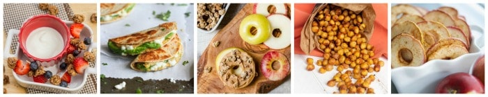 Healthy Kid's Snack Recipe Ideas collage 2