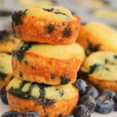 Blueberry Pancake Mini Muffins featured