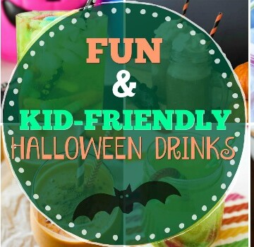 Fun Kid Friendly Halloween Drinks title photo