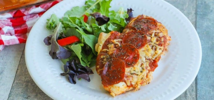 Pizza Stuffed Chicken Featured