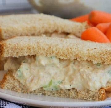 Tuna Salad sandwich closeup