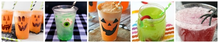 Fun Kid Friendly Halloween Drinks collage 4