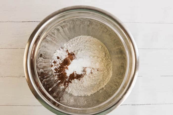 flour in a metal bowl
