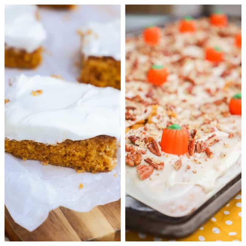pumpkin bars and cake