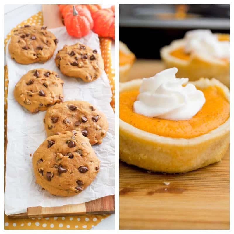 pumpkin pie and cookies