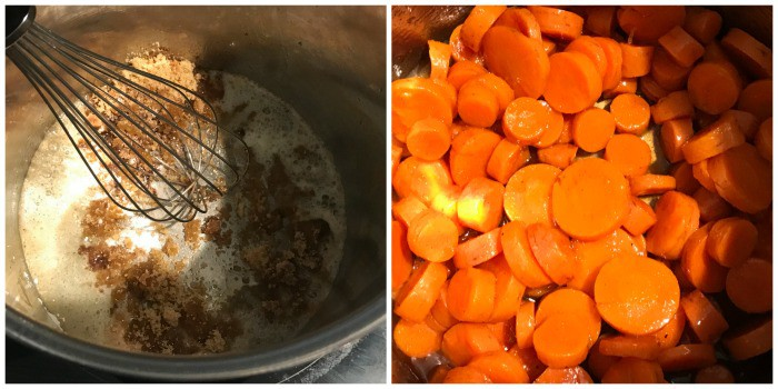 mixing ingredients and placing in carrots