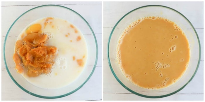 milk and eggs mixed together