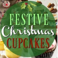 Christmas Cupcake Collage with title