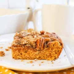 coffee cake on a plate