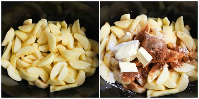 apples in the slow cooker with other ingredients