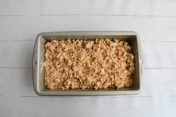 bread with topping before baking