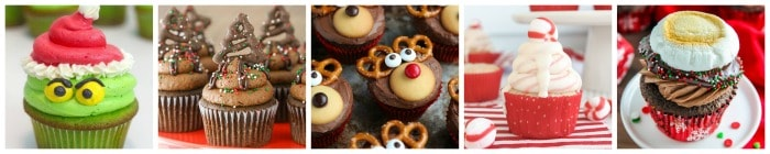 Christmas Cupcakes Collage Part 4