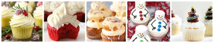 Christmas Cupcakes Collage Part 3
