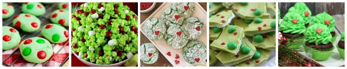Christmas Grinch Recipes collage part 1