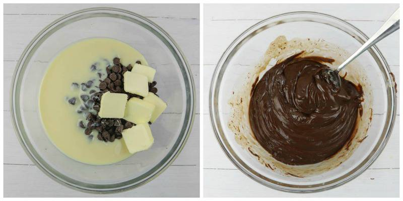 melting ingredients in a clear bowl