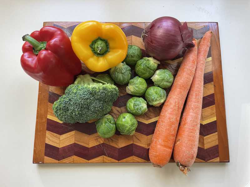 Variety of vegetables on a wooden board