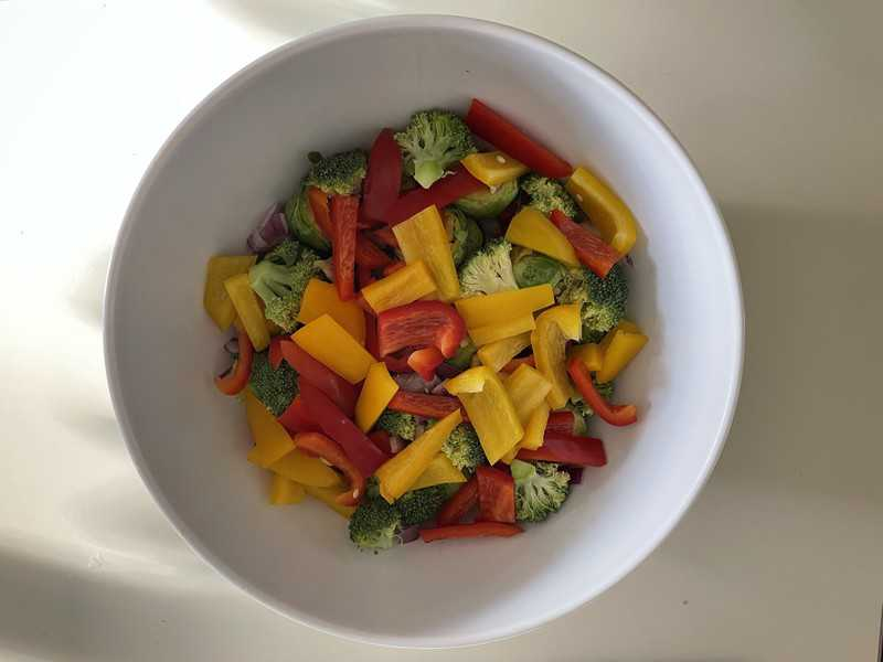 diced veggies in a bowl