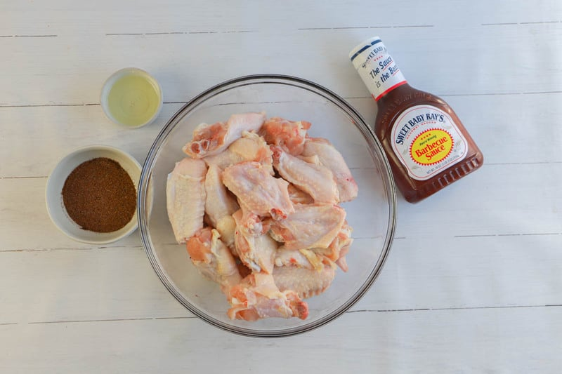 picture of ingredients for BBQ chicken wings