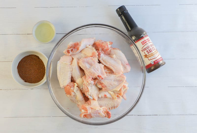 Ingredients for Baked Chicken Wings
