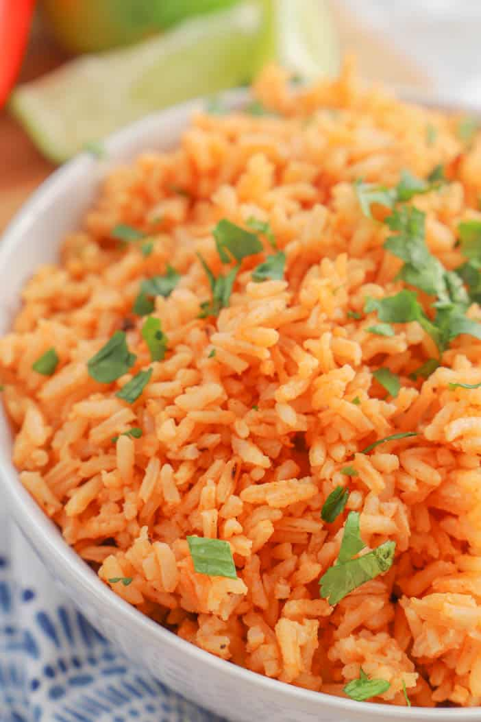 close up image of Mexican Rice