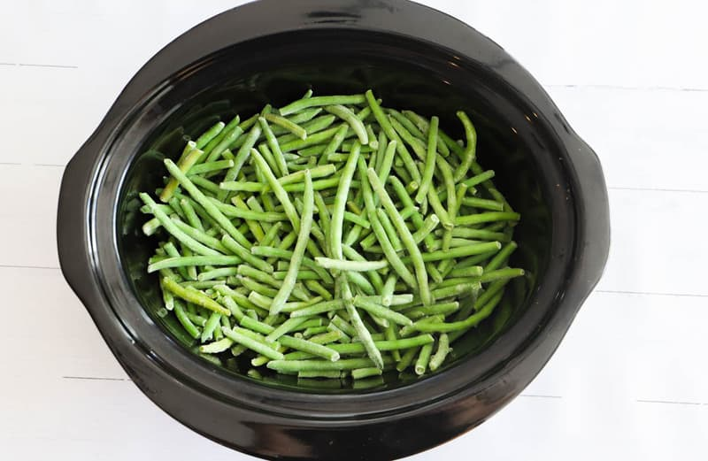 green beans in slow cooker