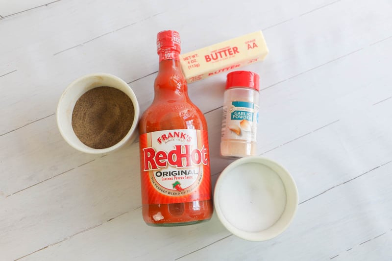 ingredients for homemade buffalo sauce
