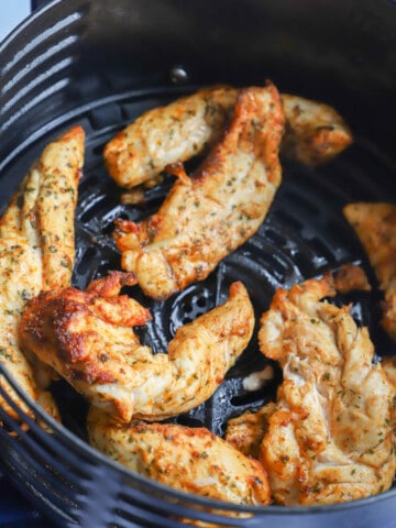 Air Fryer Chicken Tenderloins in the air fryer