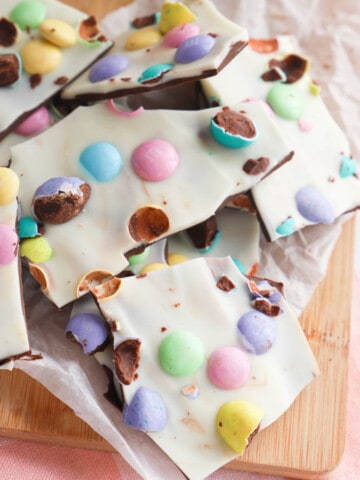 Easter Bark piled on top of each other