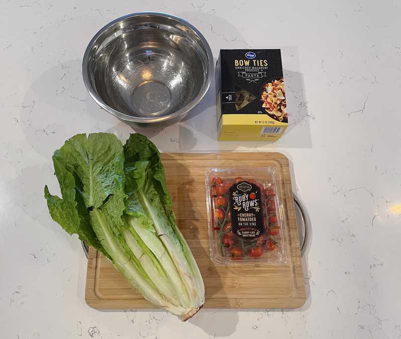 Ingredients for BLT Pasta Salad