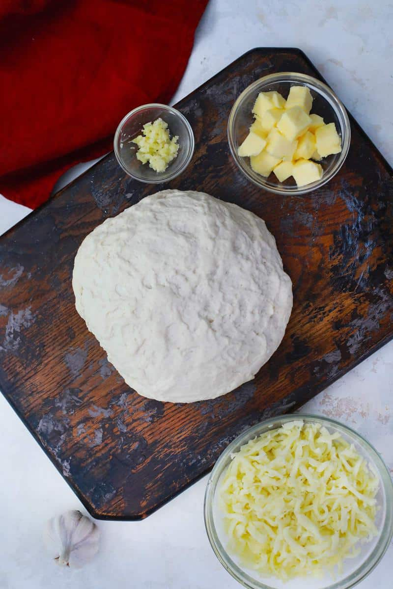 ingredients for garlic flat breadsticks