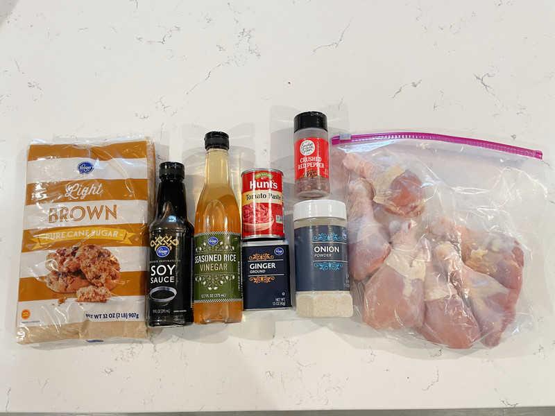 ingredients for Asian chicken drumsticks