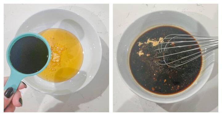 mixing ingredients for teriyaki sauce