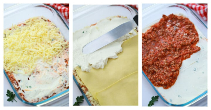 adding layers to a casserole dish