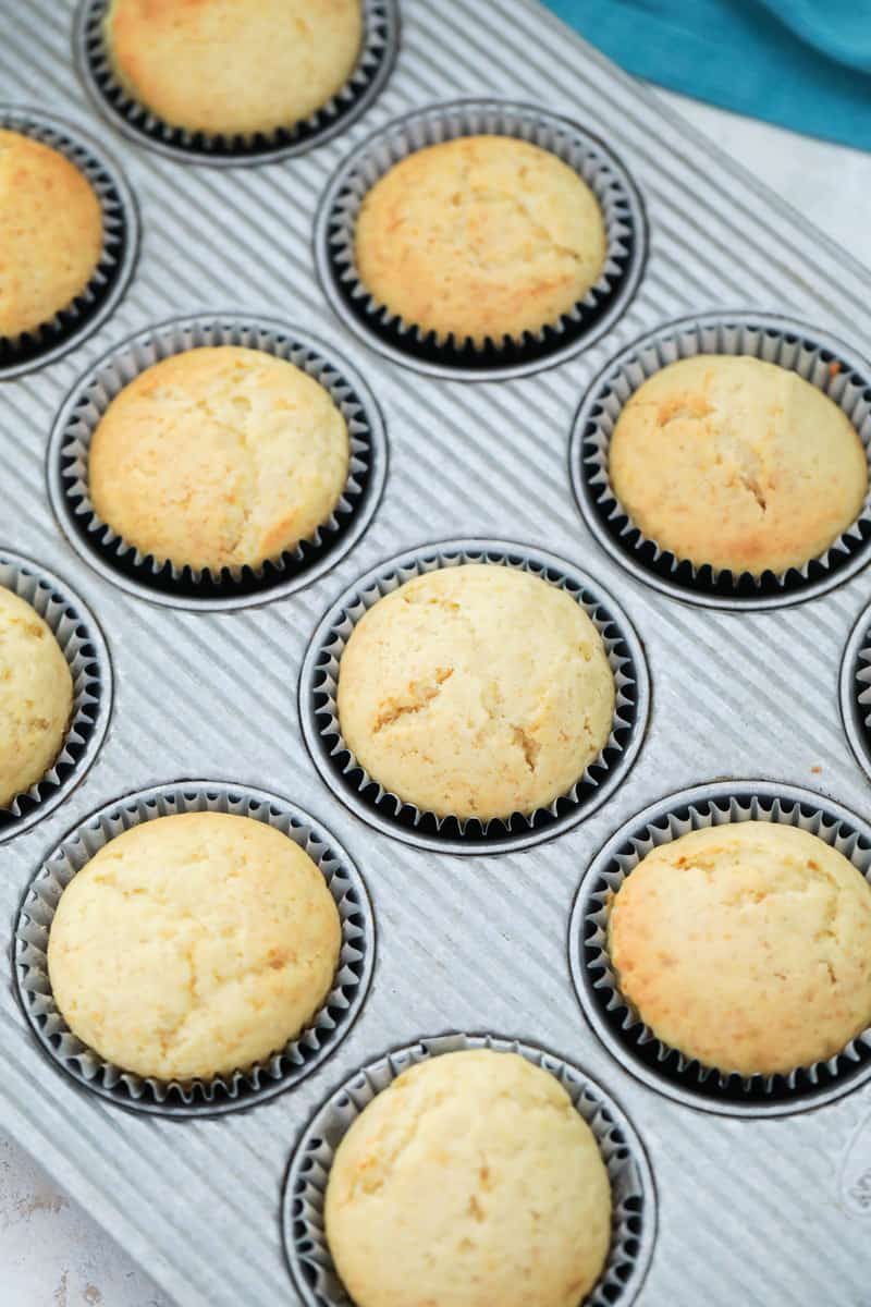 cooked cupcakes in cupcake pan