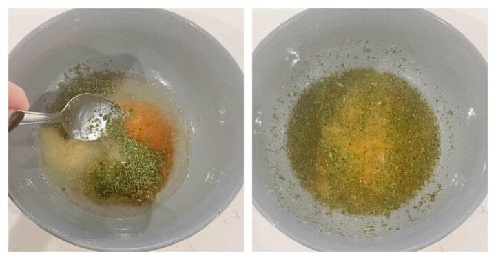 making homemade lemon pepper marinade