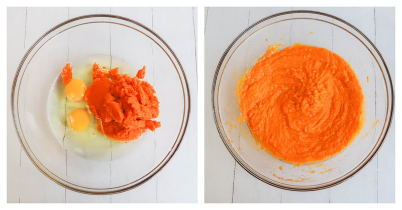 mixing the wet ingredients together