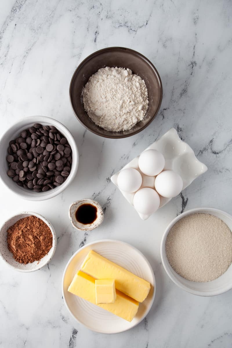 ingredients for classic brownie recipe