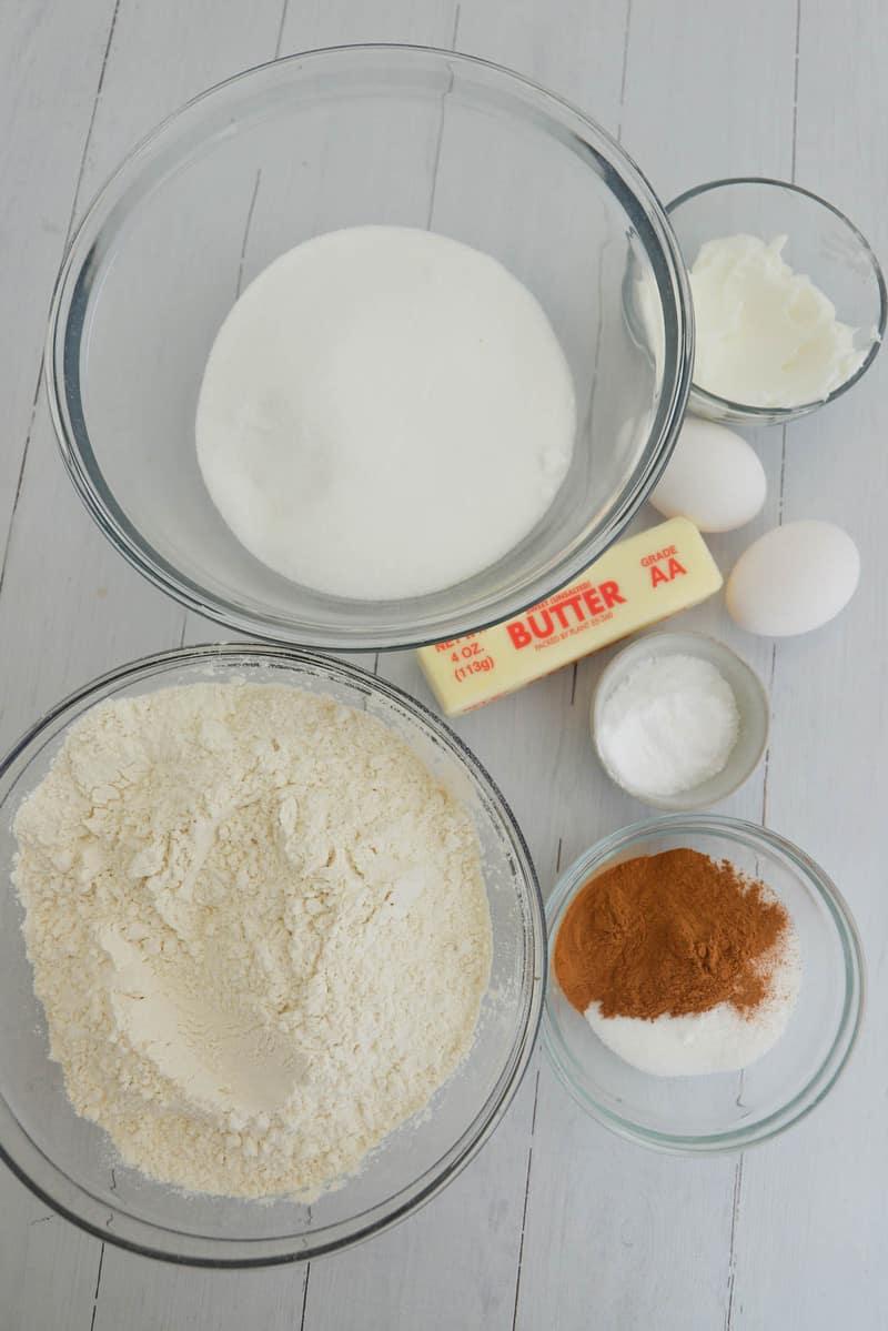ingredients for snickerdoodle cookies