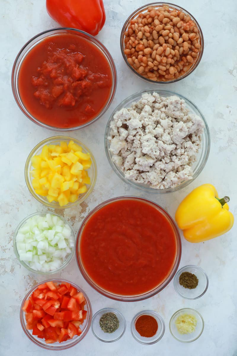 ingredients for slow cooker turkey chili