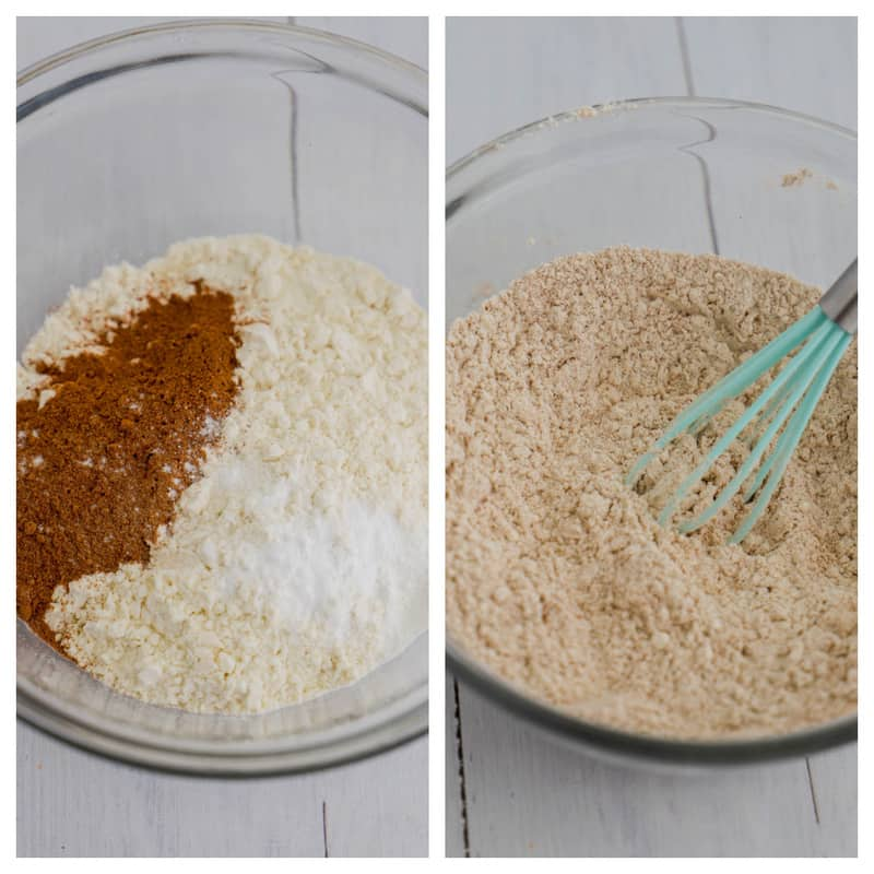 whisking dry ingredients together cupcakes