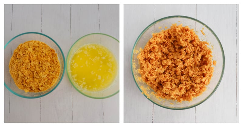 making corn flake topping