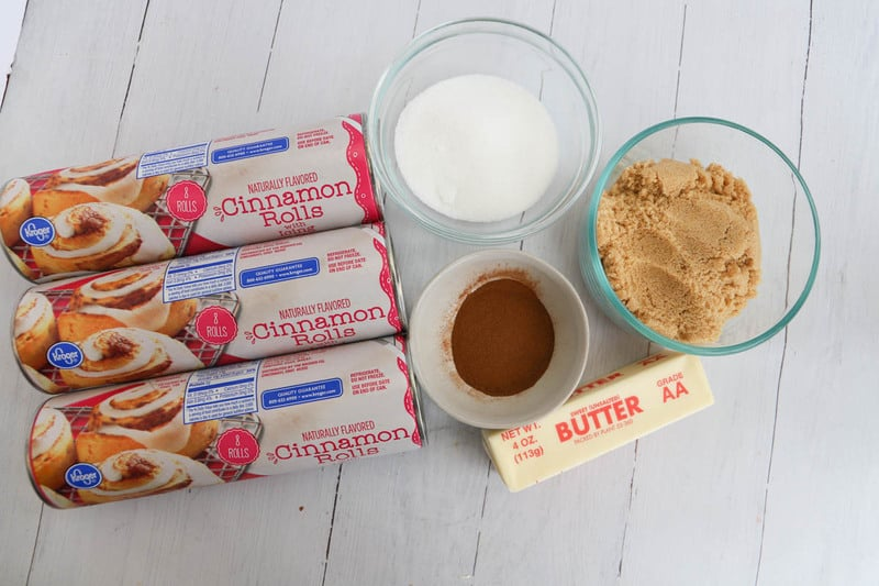 ingredients for cinnamon roll monkey bread