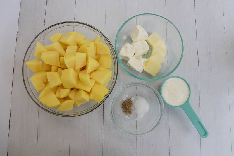 ingredients for cream cheese mashed potatoes