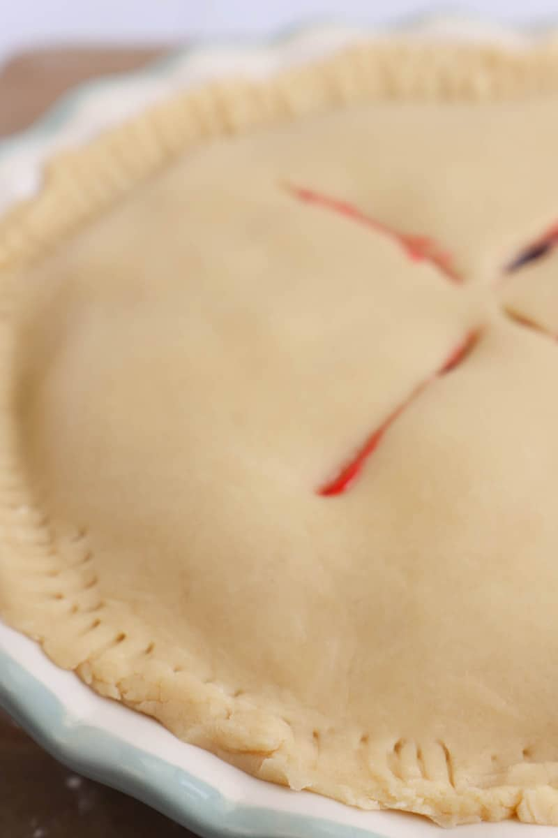 Homemade Pie Crust close up picture
