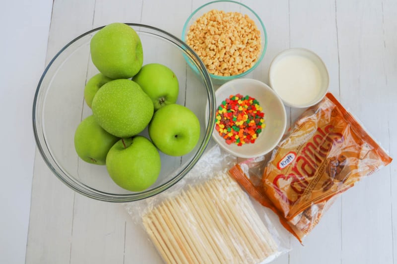 ingredients for caramel apples