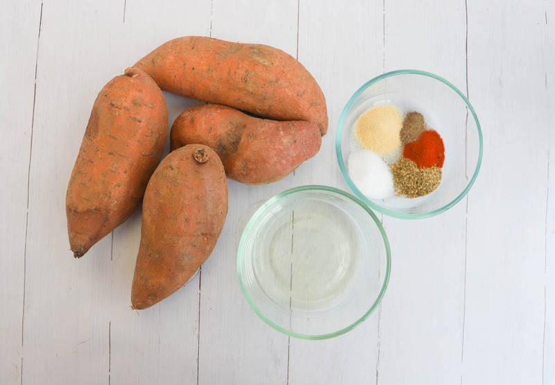 ingredients for sweet potato fries