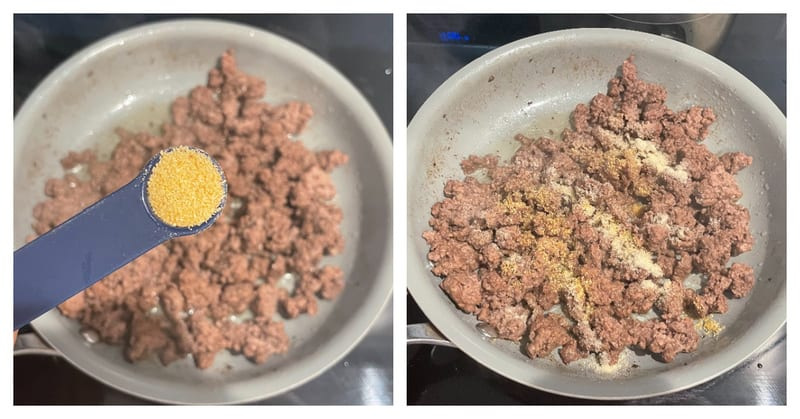 cooking and seasoning ground beef